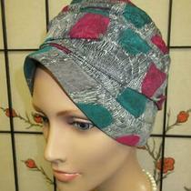 Vtg Silk Scarf Cloche Turban Deco Marine Fossil Print Pleated Party Dress Hat Photo