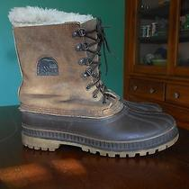 Vtg Sorel Men's Brown Suede Leather Insulated Liner Steel Shank Snow Boot Size 9 Photo