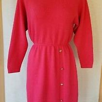 Vtg  St John for Saks Fifth Ave Womens  Knit Winter Sweater Dress Size 8  Photo