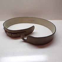 Vtg Taupe Tan Leather Anne Klein Hook Belt Small 8717  24