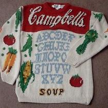 Vtg the Eagle's Eye Sweater Pull-Over Campbell's Soup' Ladies Sz M Rare Euc Photo