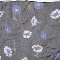 Vtg the Limited  100% Silk Sheer Print Scarf Made in Italy  16