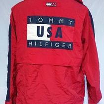 Vtg Tommy Hilfiger 1996 International Games Windbreaker Jacket Mens Large Photo
