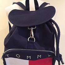 Vtg Tommy Hilfiger Backpack Sling Bookbag Golf Bag Bucket Tote Rucksack 90s Logo Photo