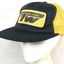 Vtg Trans Western Express Mesh Trucker Hat Snapback Patch Cap Semi Driver Logo Photo