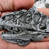 Vtg Tyrannosaurus Rex Belt Buckle 3d Jurassic Dinosaur Utah Fossil Rare Vg Photo