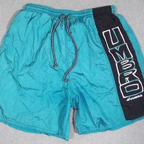 Vtg Umbro Men's Retro Size Large Blue Green Teal Swim Suit Trunks Shorts Euc Photo