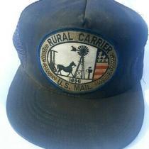 Vtg Usps Rural Carrier Us Mail 1896 Patch Hat Mesh Snapback Trucker Cap Usa Rare Photo