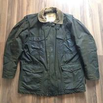 Vtg Viyella Empire Oil Cloth Waxed Cotton Jacket L Uk Made Hunting Barbour Barn Photo