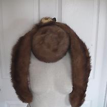 Vtg Voguemont Womens 3 Piece Brown Genuine Tuscan Lamb Skin Fur Hat Italy  Photo