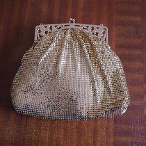 Vtg Whiting & Davis Co. Gold Mesh Bag Gold Evening Purse Photo