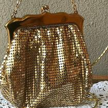 Vtg Whiting & Davis Gold Mesh Purse 2892 1920's  Photo