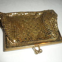 Vtg Whiting Davis Gold Tone Coin Purse No. 2684 Needs Tlc at Hinge Area Photo