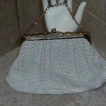 Vtg  Whiting Davis Ivory Mother of Pearl Mesh Purse   Euc Photo