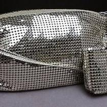 Vtg Whiting & Davis Silver Mesh Handbag Matching Business or Credit Card Holder Photo
