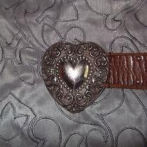 Vtg Womens Guess Heart Belt   Photo
