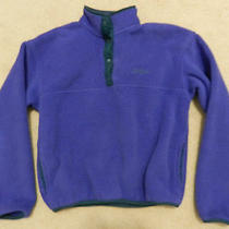 Vtg Womens Ll Bean Usa Made T Snap Fleece Pullover Jacket Patagonia Style Sz Sm Photo