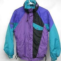 Vtg Youth Columbia Insulated Hooded Ski Winter Coat Radial Sleeve Xl  Photo