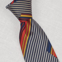Vtg Ysl Yves Saint Laurent Colorful Stripe 3.5