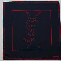 Vtg Yves Saint Laurent Ysl 100% Silk Pocket Scarf  Square 19
