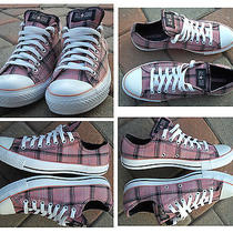 W 11 Converse All Star Grunge Ox Rose Plaid Sneakers Shoesnear Mint Zoom Pics Photo