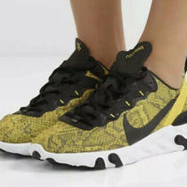 W Nike React Element 55 Womens Size 9.5 Speed Yellow Running Shoes Ct1551 700 Photo