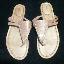 w's 8.5 Tan Lands End Sandals - Worn Once Photo