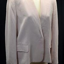 W Worth Blazer Light Jacket Lined Suit Coat Open Front Crop Pink Blush Sz 12 Vtg Photo