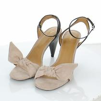 W17 New 298 Women's Sz 39.5 M Joie Oleta Suede Knot Sandal in Blush  Photo