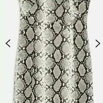 W178 Topshop Grey Snakeskin Faux Leather Boobtube Strapless Dress Size 14 Bnwt Photo