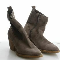 W21 Women's Size 9 Jeffrey Campbell Brown Suede Side Zip Pointed Toe Booties Photo