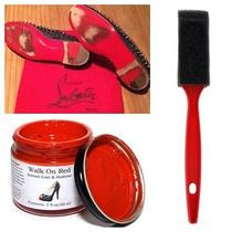 Walk on Red Sole Restoration Touch Up Paint Set Christian Louboutin Mens Flat  Photo