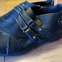 Walking Cradles Christy Women's Black Leather Bootie 7.5 Ww Photo