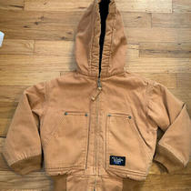 Walls Blizzard Pruf Warm Brown Winter Coat Jacket Hooded Toddler Boys 4 / 5 Photo
