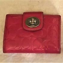Wallet  Coach  Pink Leather/vinyl  Pre-Owned Photo