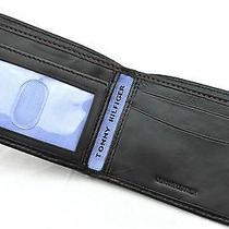 Wallet Tommy Hilfiger Bifold Soft Leather Black Passcase/valet Slim Billfold Men Photo