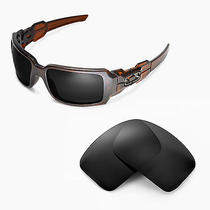 Walleva Polarized Black Replacement Lenses for Oakley Oil Drum Ii Sunglasses Photo