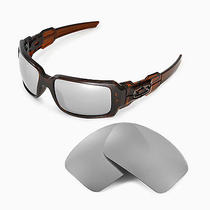 Walleva Polarized Titanium Replacement Lenses for Oakley Oil Drum Ii Sunglasses Photo