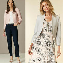 Wallis New Petite Tailored Crepe Cropped Jacket Blazer in Blush/pink & Grey Photo