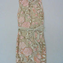 Want My Look Women's Madeleine Floral Mini Dress Blush/nude Hm7 Size Small Nwt  Photo