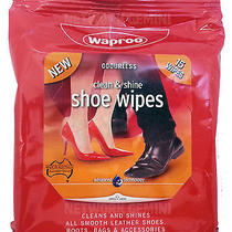 Waproo Clean and Shine Shoe Wipes Leather Synthetics Bags Furniture Boots Jacket Photo
