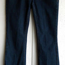 Warehouse One 27 Mid-Rise Boot Cut Dark Blue Wash Jeans (28 X 32) Fancy Pockets Photo