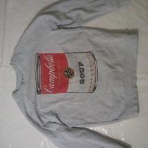 Warhol Campbells Slim Sweatshirt Urban Outfitters S Small Gray Mustache Brigade Photo