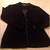 Warm Soft Express M Black Button Down Shirt Jacket Blazer Micro Suede Ladies Photo