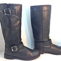Warm & Wonderful Aldo Black Leather Insulated Motorcycle Riding Boots 7.5 38 Photo