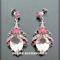 Was 28now15blush Pink Victorian Style Statement Chandelier Earringsdae67 Photo