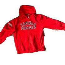 Washington Capitals Nhl Hockey Red Reebok Faceoff Collection Hoodie Large    A27 Photo