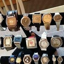 Watch Lot 1 of 20 Watches 4u2fix or Parts Fossiltimex Armitronseiko Others Photo