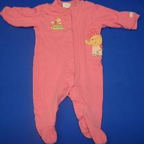 Watch Me Grow Pink W/ Elephant Button Front Ls One Piece 3-6 Months B204 Photo