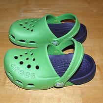 Water Crocs Green & Blue Clogs Sandals Water Shoes Boys 9 Photo